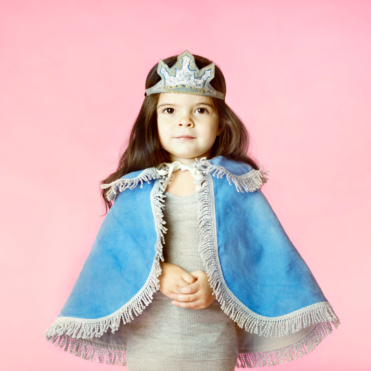 girl dressed as princess with crown